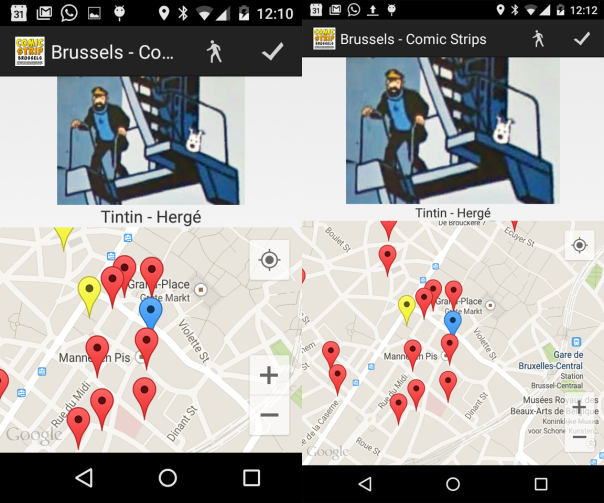 comparison of two screen sizes of nexus 4